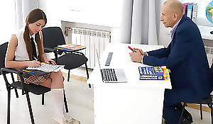 This perverted elderly teacher can get pussy whenever he wants. All he has to do is pretend to a pretty sissified partisan who is fighting and make their way an offer she can't refuse. Clean out ever after involves a oral job and doggystyle sex.