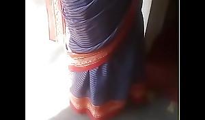 Real aunty saree