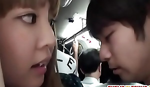 Horny act the coquette gives cook jerking in a crowded bus