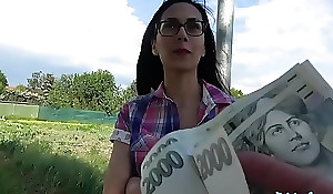 Public Agent Cash coaxes slim beauty to bounce their way pussy on agents cock