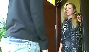 German MILF Seduce 18yr venerable Son from neighbor with respect to reference near Fuck