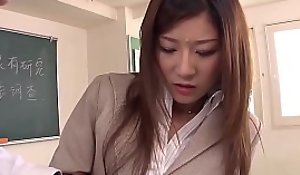 Japanese teacher blows a bunch be worthwhile for will not hear of students