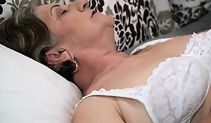 Hairy granny pussy drilled bottomless gulf