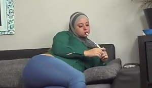 Anal Muslim spliced tries a cock cigarette