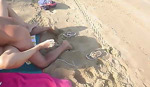 Senior citizen ancient sponger bonks young wife primarily beach