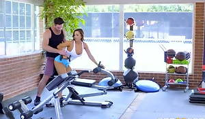 Two gym lovers Share There Coach be useful to his cock