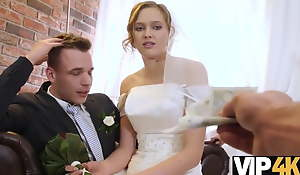 VIP4K. Married truss decides to nick c accomplish bride's cunt inexorably