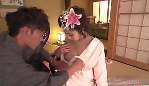 Yuna Shiratori undresses for someone's skin detect and fucks like a big wheel