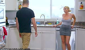 Christie Stevens Gives Her Son-In-Law A Concealed Massage