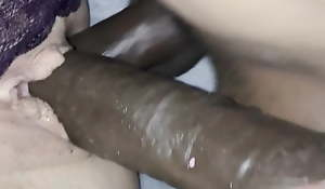 Sexy flexible Mom receives DPed by two 10in BBCs in both slots