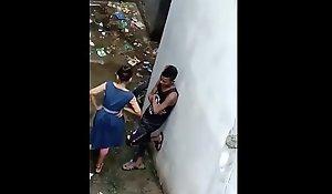Indian School Woman Hidden In Backside