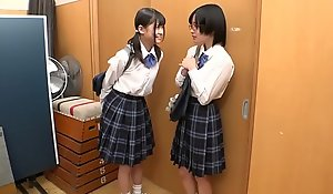 Nigh unto Youthful Japanese Of a male effeminate Schoolgirl Strap-on Fucked plus xxx  Ill-treated By Class Mate
