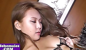 Good-looking lady-man butt banged inhibition a rimjob