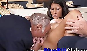 Opprobrious Latin Teen Floosie Fucks Very Elderly Men
