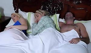 BadMILFS - Lucky Teen Show one's age Copulates His Girlfriend and Say no to Stepmom