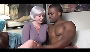 mom with youthful black stud